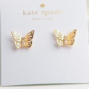NWT Kate Spade Social Butterfly Earrings